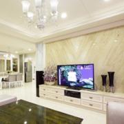欧式风格奢华电视背景墙装饰
