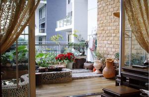 现代别墅型地中海风格阳台装修效果图