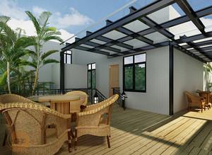 200平米大户型现代露天阳台花园设计装修效果图