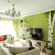 自然风格二居室效果图