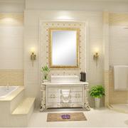 别墅简欧风格浴室浴缸装饰