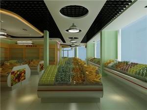 水果店地板砖效果图