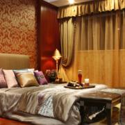 东南亚奢华卧室飘窗装饰效果图