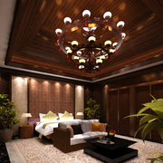 东南亚风格大型卧室灯饰效果图