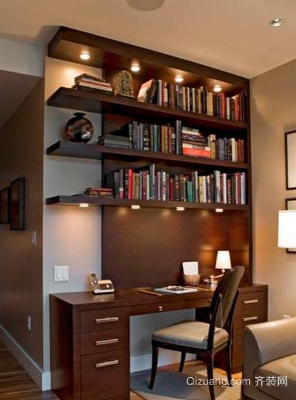 都市开放式小书房装修效果图