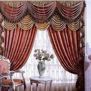 欧式复古大气客厅窗帘装饰