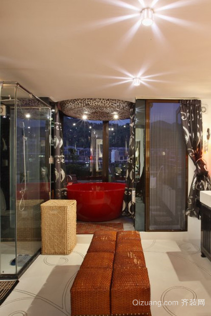 两室一厅一卫东南亚风格卫生间装修效果图