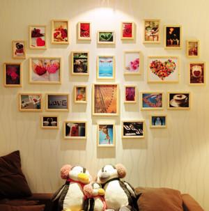 心形照片墙装修欣赏
