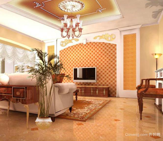 两室一厅欧式客厅电视背景墙