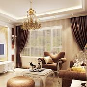 欧式奢华风格精美客厅飘窗装饰