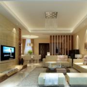 现代简约风格公寓客厅沙发装饰