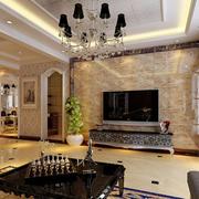 欧式风格客厅影视墙