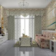 韩式清新风格客厅背景墙装饰