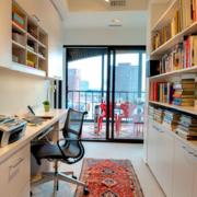 欧式简约风格书房整体式书柜装饰