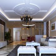 欧式简约风格客厅壁纸背景墙装饰