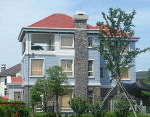 现代时尚小户型别墅外墙砖装修效果图