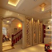 欧式奢华风格原木楼梯装饰