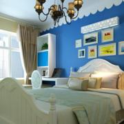 地中海简约卧室床头背景墙装饰