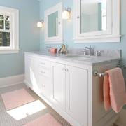 北欧清新风格卫生间浴室柜装饰