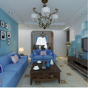 地中海客厅吊顶灯饰装饰