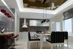110㎡简约现代餐厅背景墙装修效果图