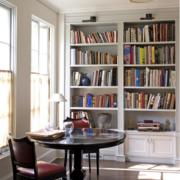 北欧风格书房整体书柜装饰