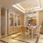 欧式奢华风格酒柜背景墙装饰