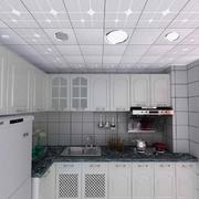 欧式风格厨房密集式石膏板吊顶装饰