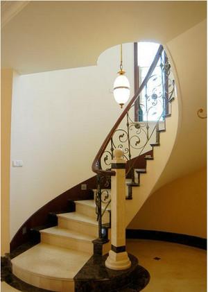 欧式复古楼梯装修效果图