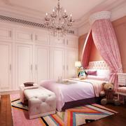 欧式粉色系儿童房衣柜装饰