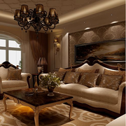 美式简约风格客厅酒柜设计