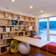 日式简约书房置物架装饰