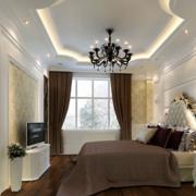 淡色调卧室吊顶装修