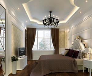 唯美卧室吊顶装修效果图