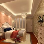 欧式奢华儿童房背景墙装饰