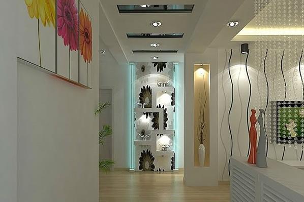 90平米现代 简约风格 客厅 过道吊顶装修效果图