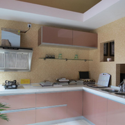 粉色调厨房橱柜设计