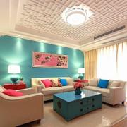 韩式客厅飘逸飘窗装饰