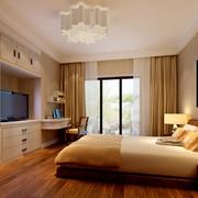 现代简约风格卧室浅色背景墙装饰