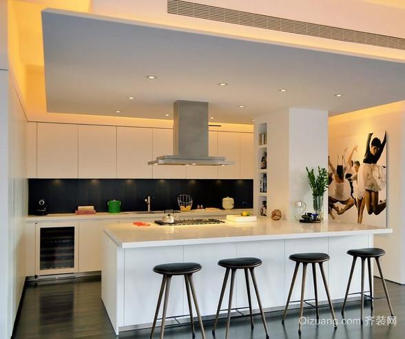 家居开放式厨房吧台装修效果图