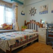 地中海风格儿童房床饰装饰