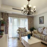 欧式风格简约客厅飘窗装饰