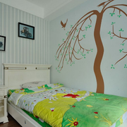 田园风格卧室背景墙