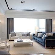 欧式简约风格客厅飘窗装饰
