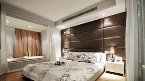 两居室中式风格飘窗窗帘设计装修效果图