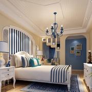 地中海简约卧室石膏板吊顶装饰