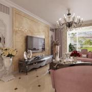 欧式客厅精致灯饰装饰