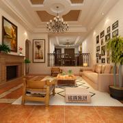 客厅简约风格沙发背景墙装饰