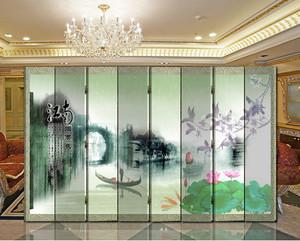 中式风格山水画屏风隔断装饰