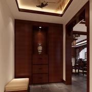 东南亚风格深色鞋柜装饰